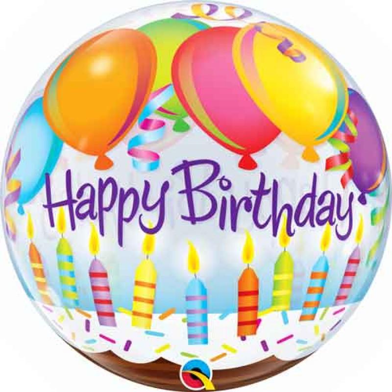Bubble Happy Birthday balon