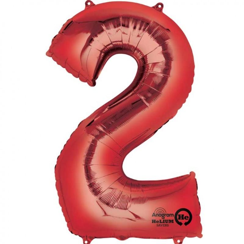 Balon Rdeča številka 2