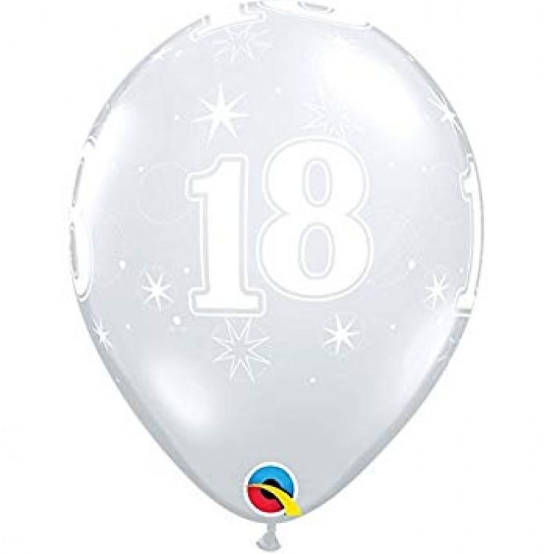 Lateks balon s potiskom 18, DIAMOND CLEAR