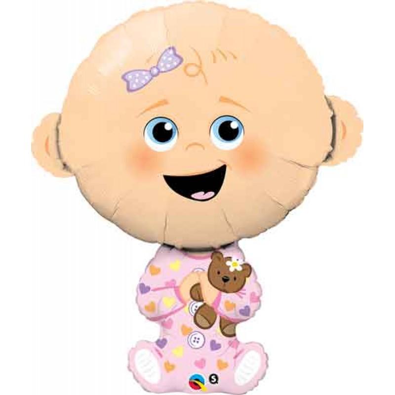 Baby girl roza balon