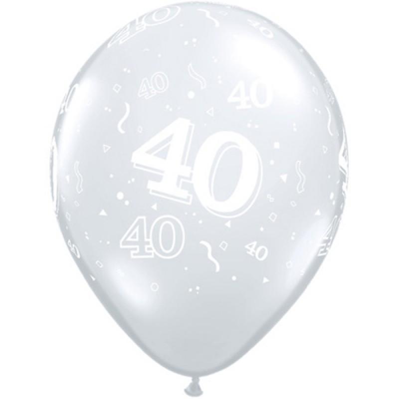 40 Diamantno razločni baloni