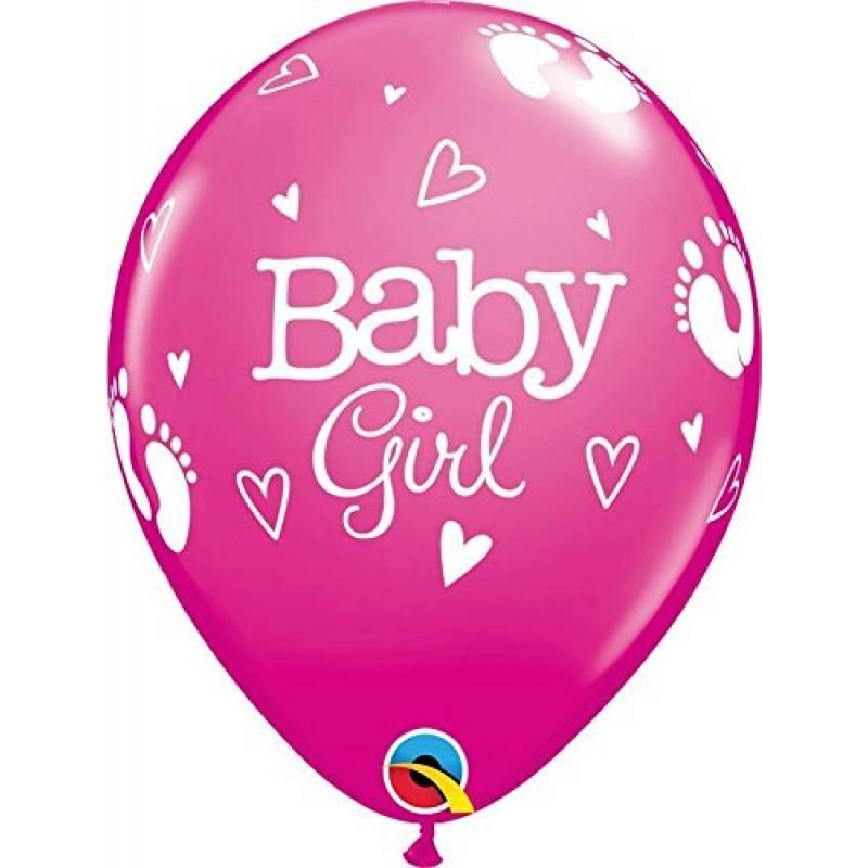 Lateks baloni dojenčice, stopinje in srčki balon