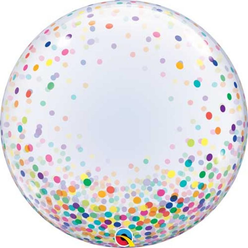 Bubble BARVNI konfeti balon