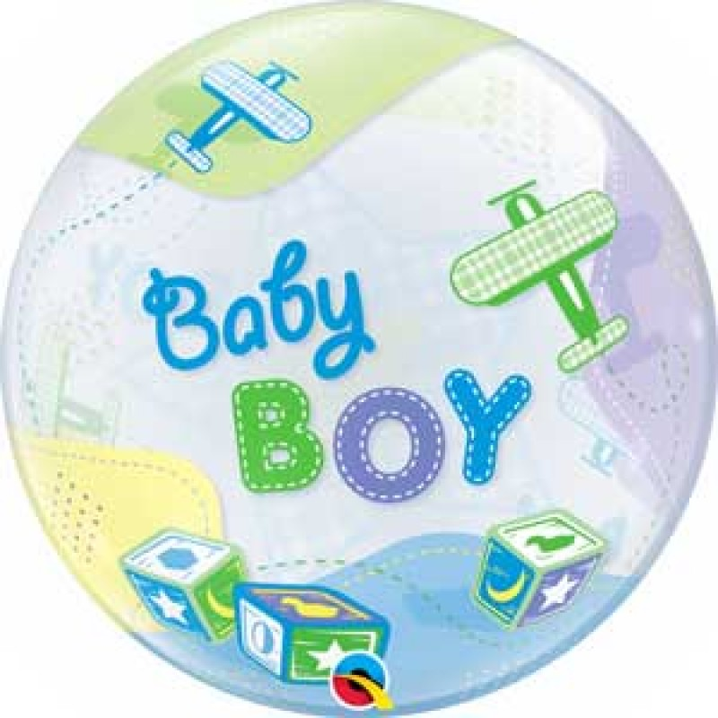 BABY BOY letala bubble balon