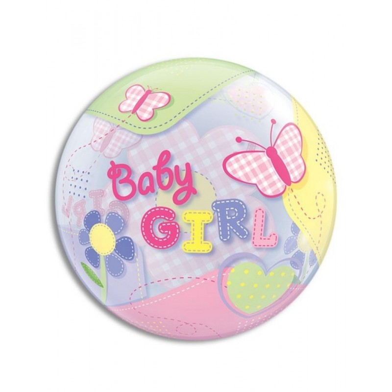 Bubble baby girl balon z metulji