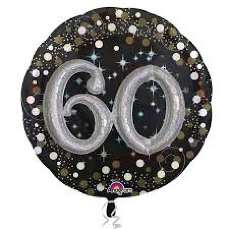 3D Happy BIrthday 60 baloni