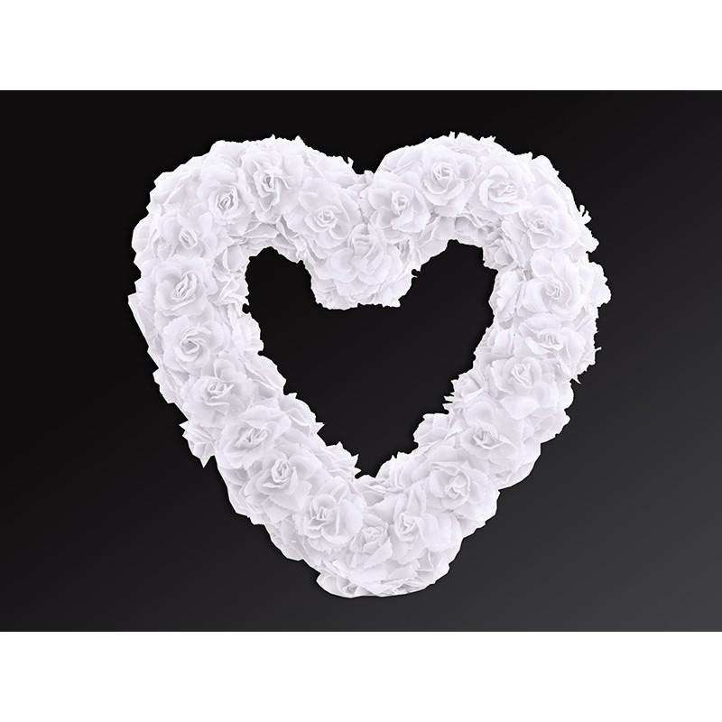 Cvetlično srce, belo, 50cm