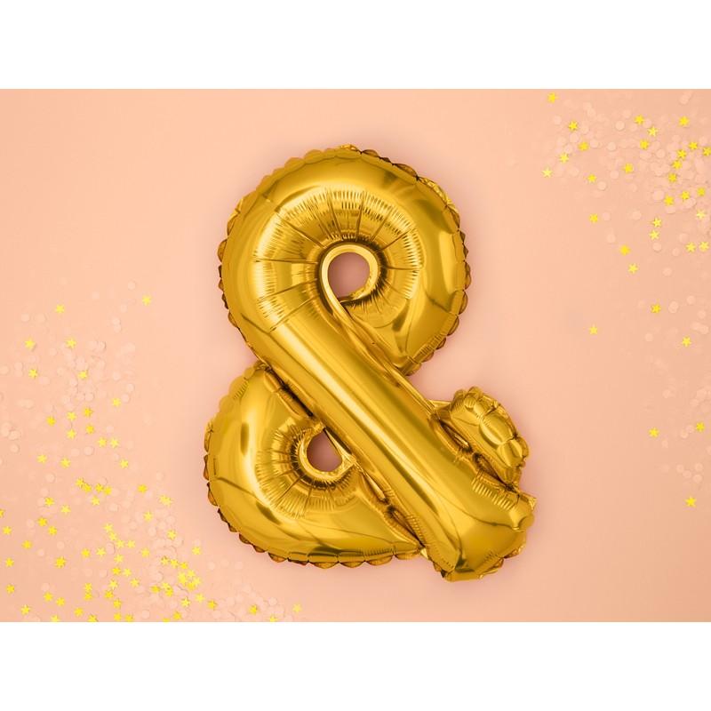 Folija balon &, 35cm, zlata
