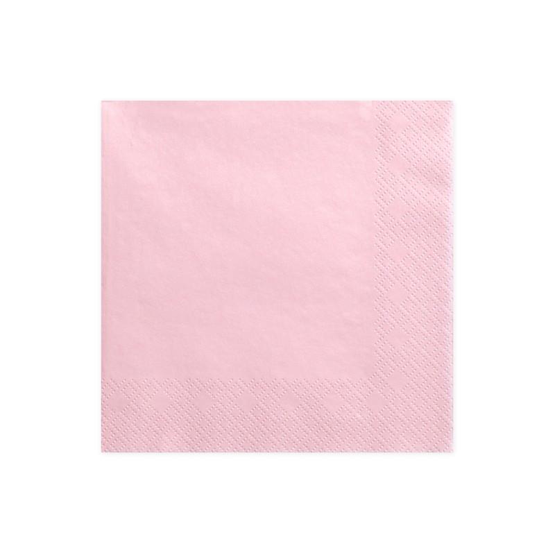 Prtički, 3 plasti, svetlo roza, 33x33cm