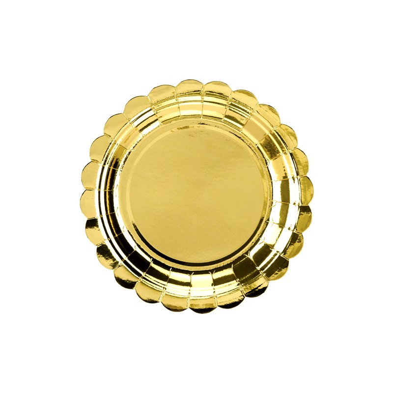 Krožniki, zlati, 18cm