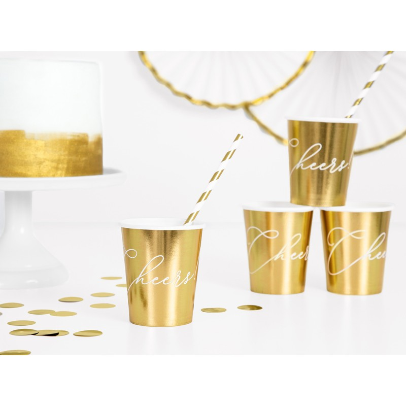 Kozarčki, Cheers!, zlati, 260ml