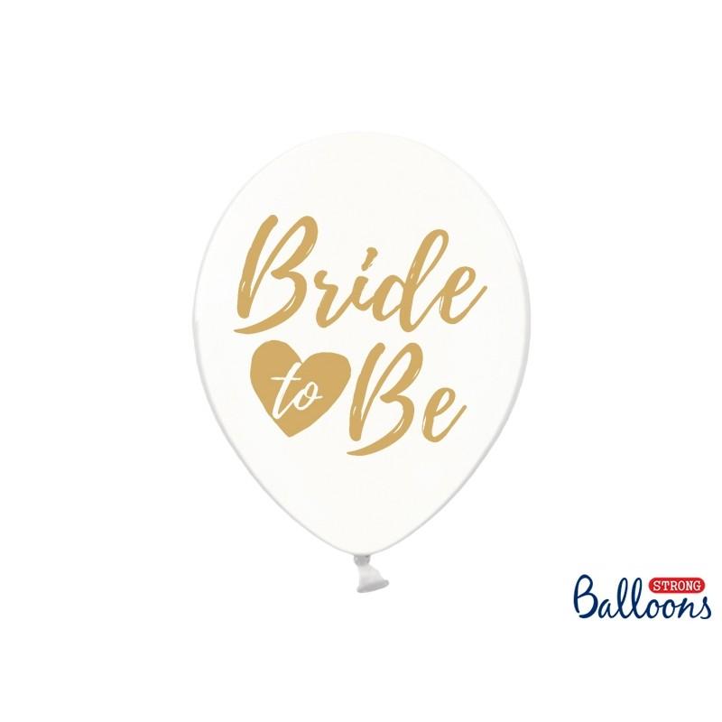 """Lateks baloni 30cm, """"Bride to be"""", Prozorni"""