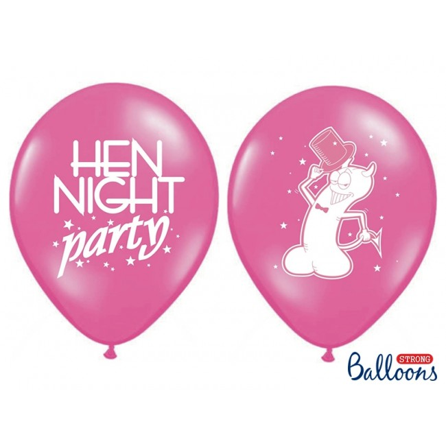 "Lateks baloni 30cm, ""Hen night party"", Pink"