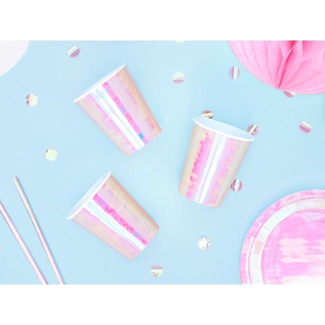 Papirnati kozarčki, roza prelivajoči, 220ml