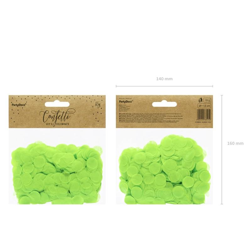 Okrogli konfetki, zeleni