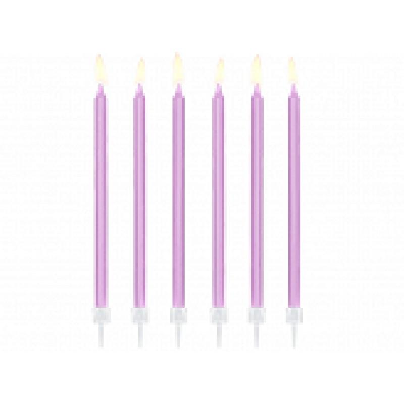 rojstnodnevne svečke, svetlo lila, 14cm