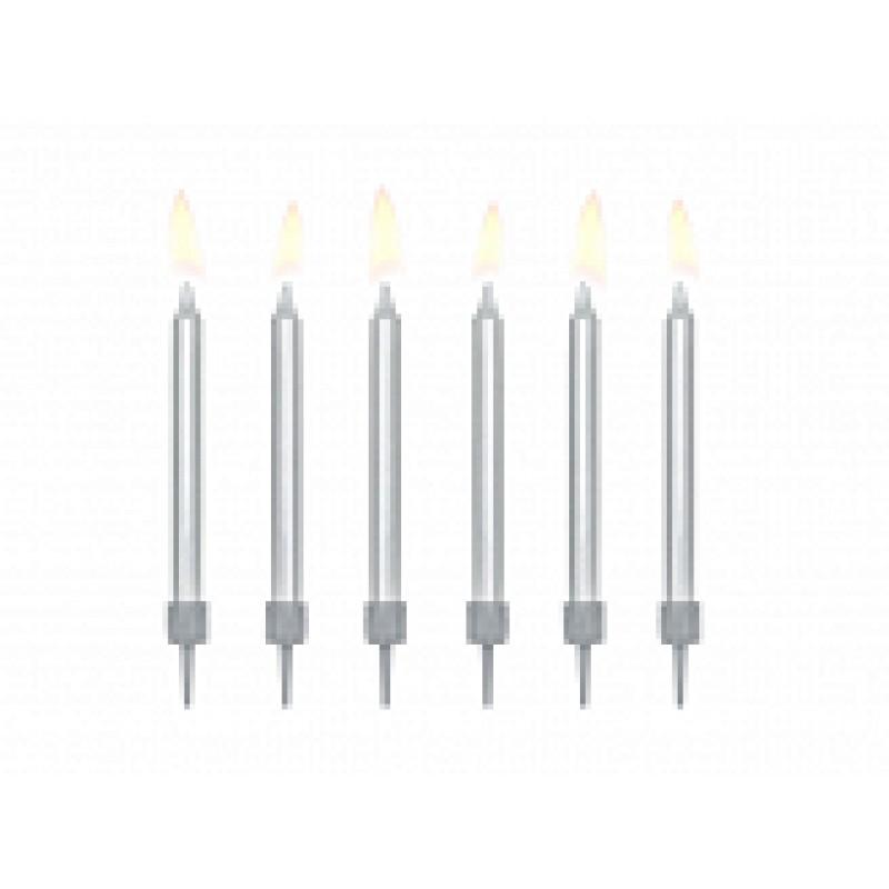 rojstnodnevne svečke Srebrne, 6m