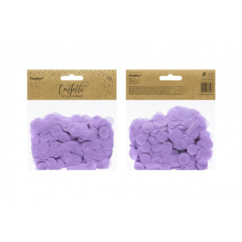 Okrogli konfetki, lila