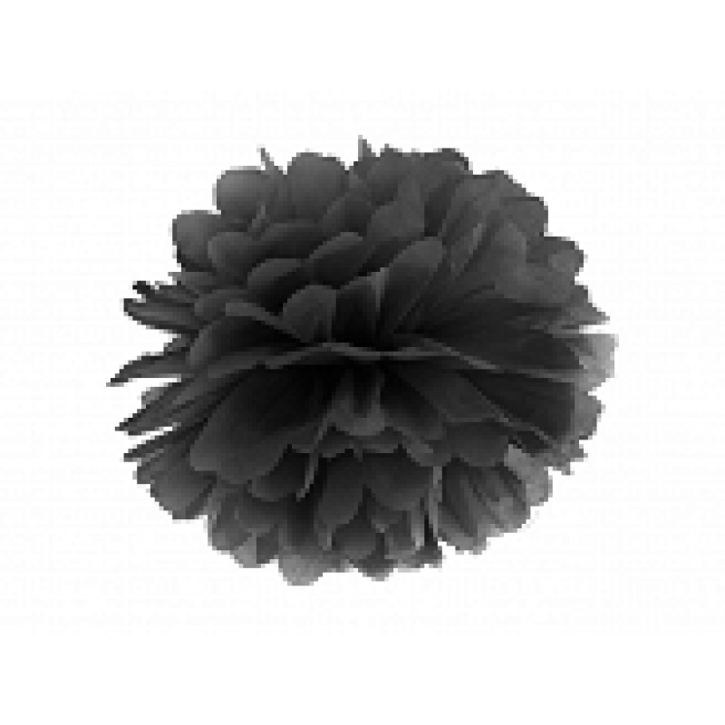 papirnat Pom pom, črn, 25cm
