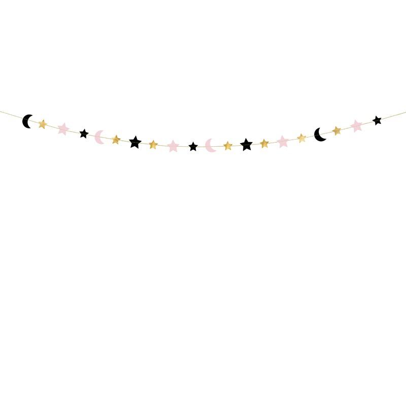 Girlanda stars and moons 190 x 6,5 cm