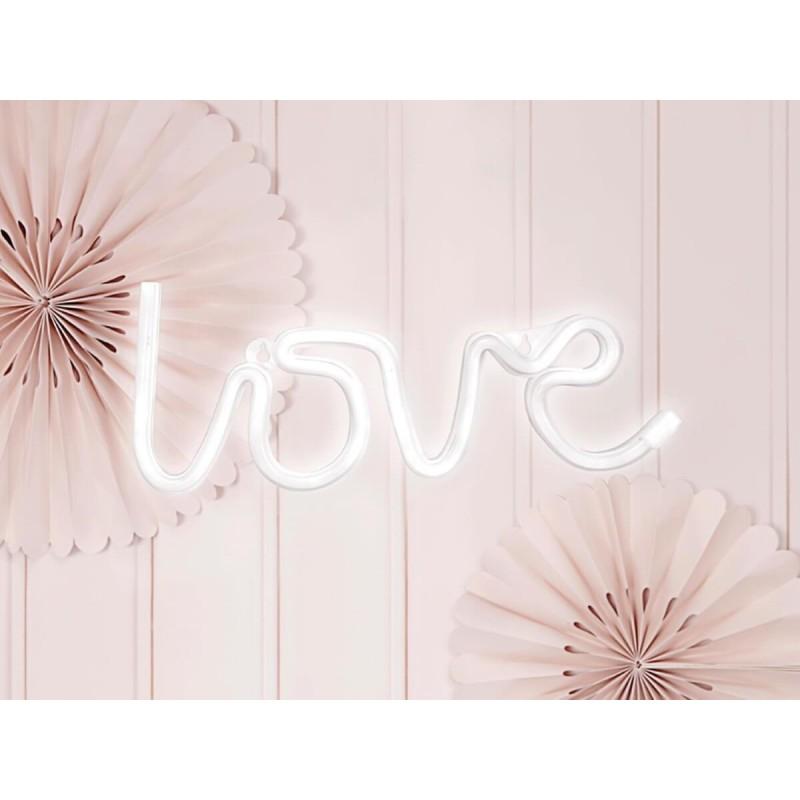 Neon lučka, napis Love