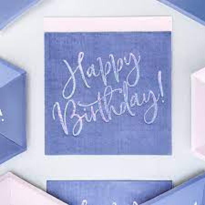 Prtički happy birthday, modri