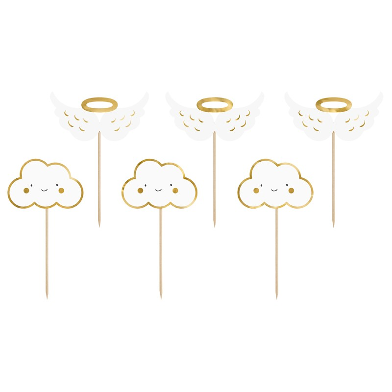 Cupcake toppers clouds & wings