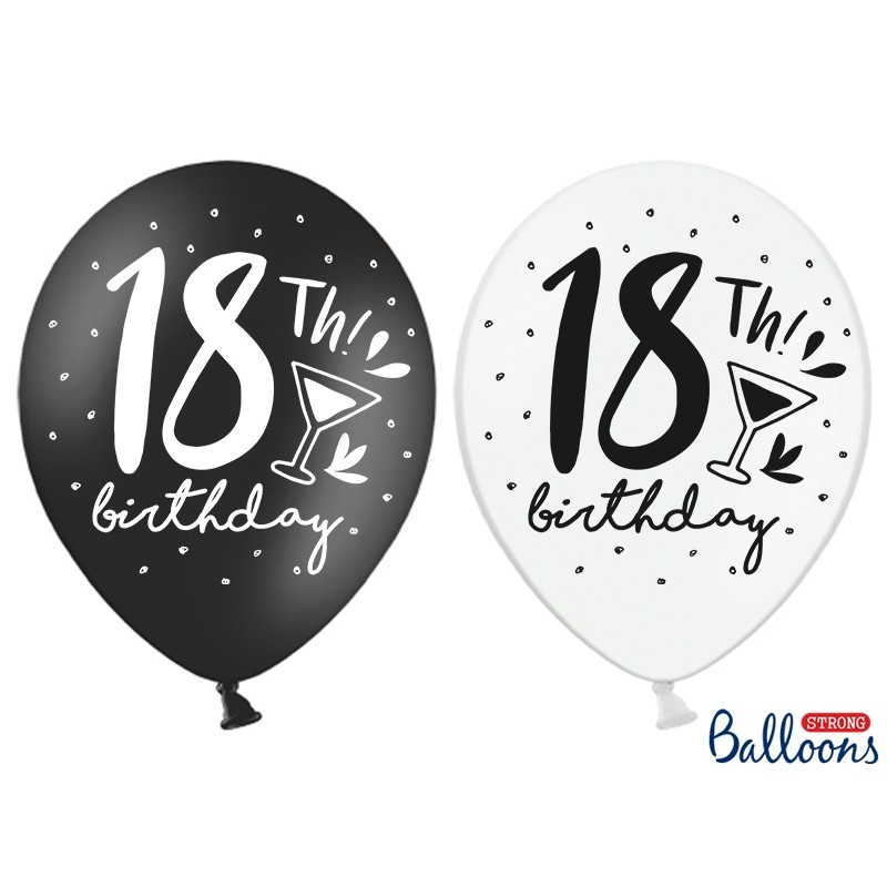 Lateks balončki s št. 18