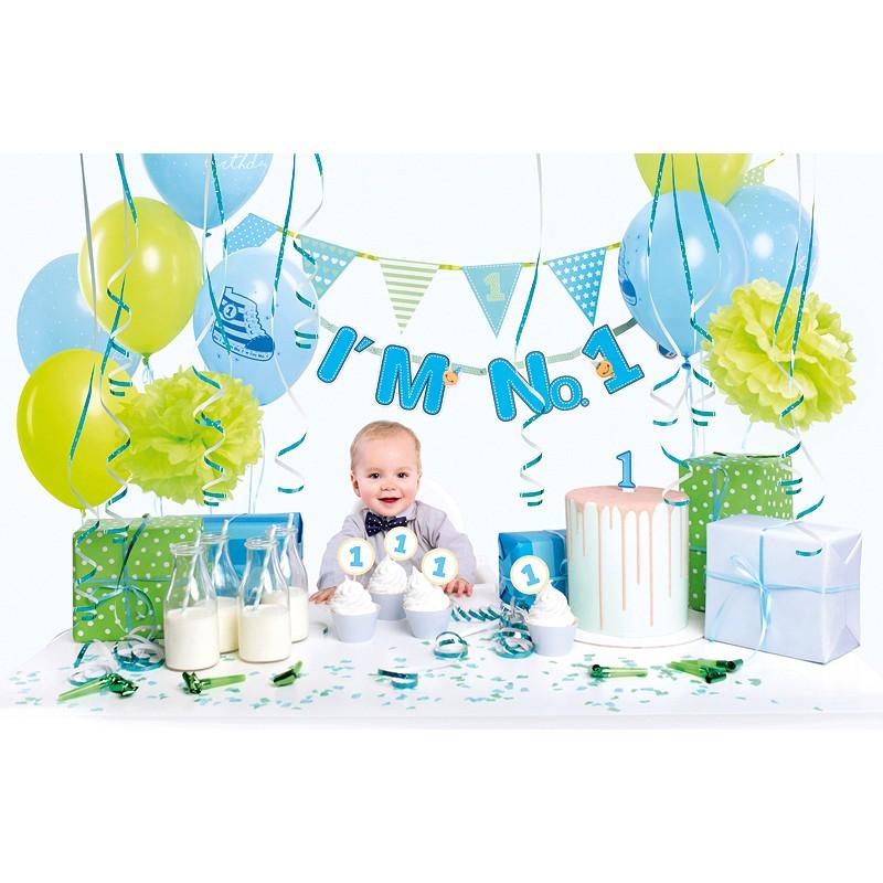 PARTY BOX: 1. rojstni dan, modro-zelena