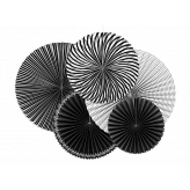 Dekorativne Rosete, črno bele