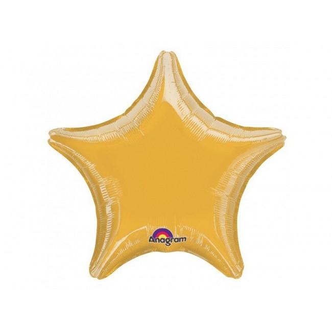 Folija balon zvezda 19''/48cm, zlat