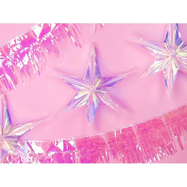 Folija balon, zvezda, prelivajoča, 40 cm