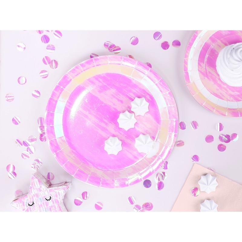 Krožniki, roza prelivajoči, 23 cm