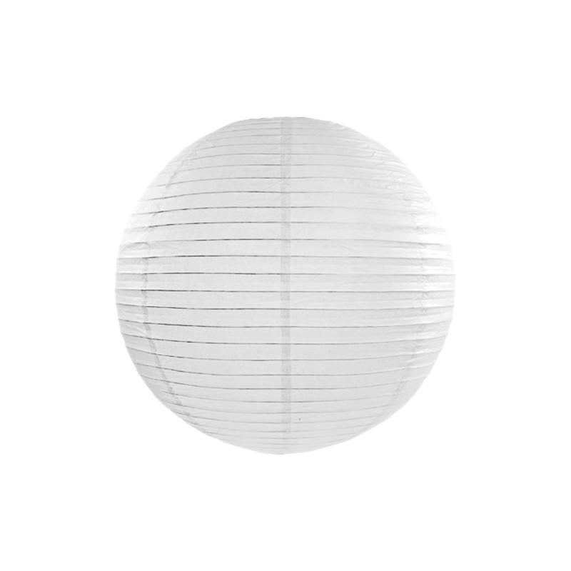 Lanterna iz papirja, bela barva, 25cm