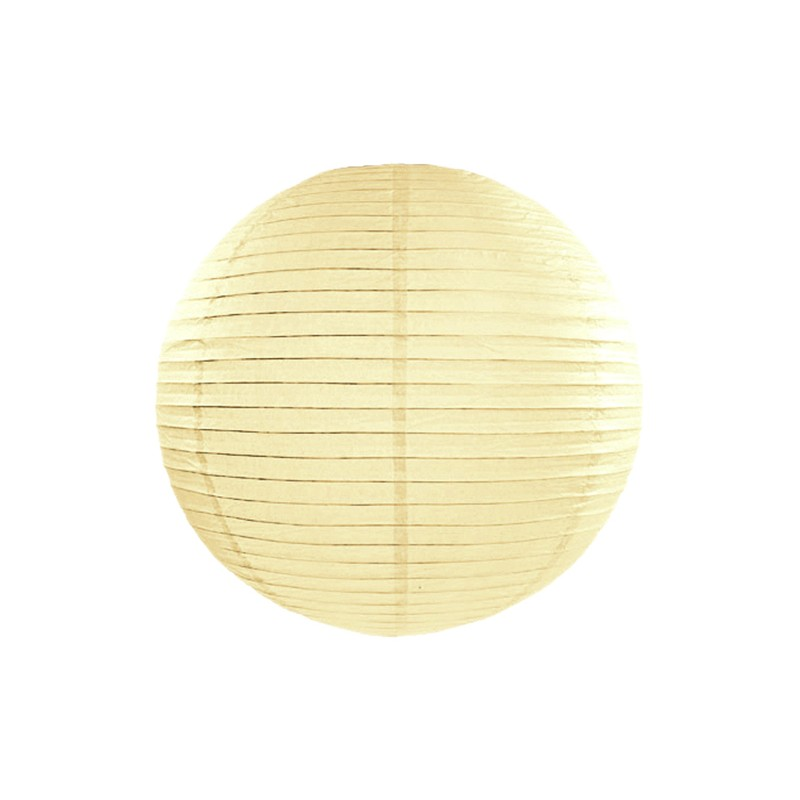 Lanterna iz papirja, barva krem, 55cm