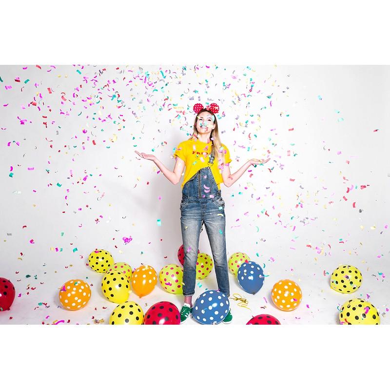 Strelec konfetov, večbarvni svaljki, 20cm