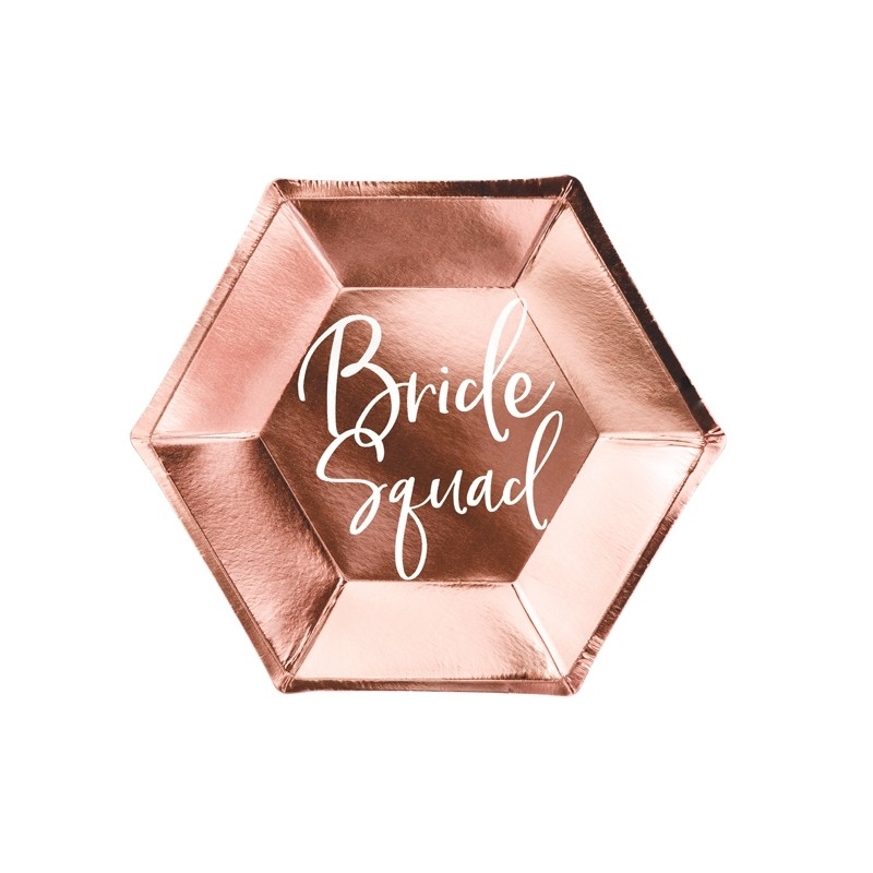 Krožniki Bride squad, rose gold, 23cm