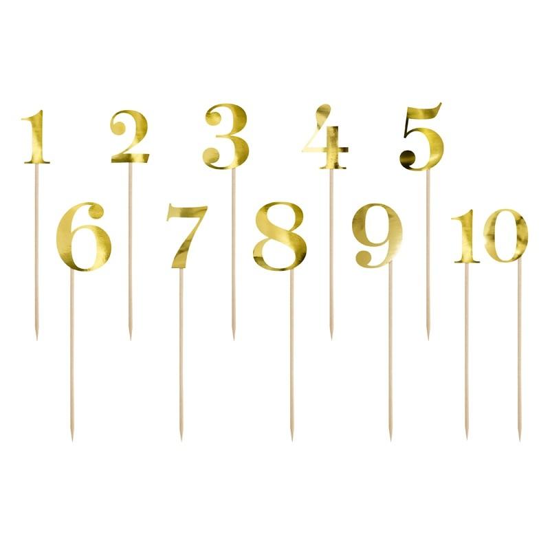 Številke za mize v zlati barvi, 25.5-26.5cm
