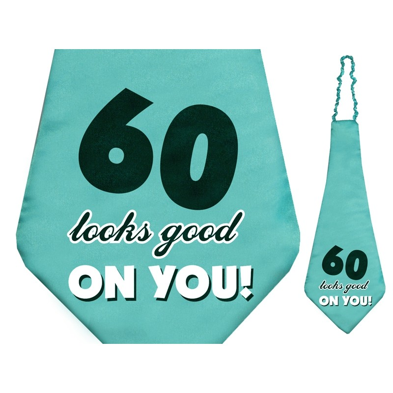 "Kravata turkizna ""60 looks good on you!"", 59cm"