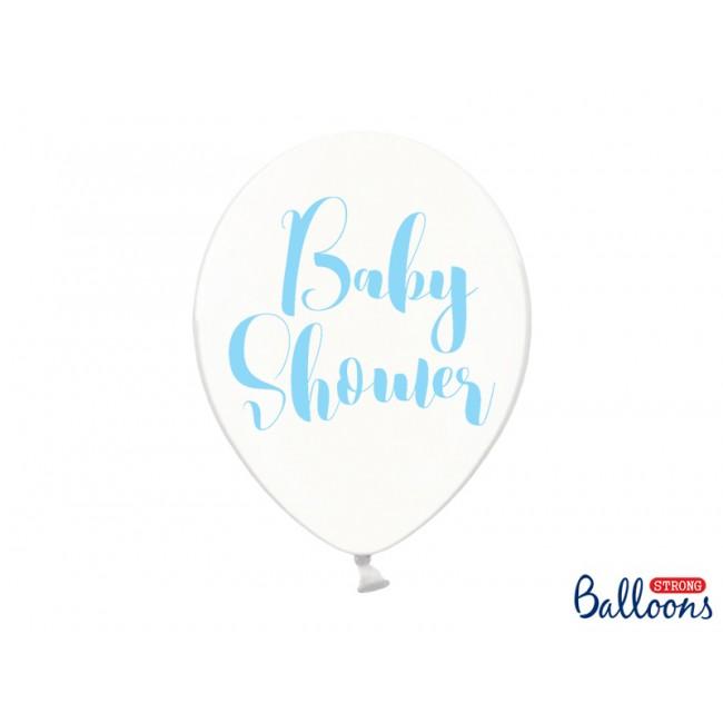 Lateks baloni Baby Shower, 30cm, prozorni