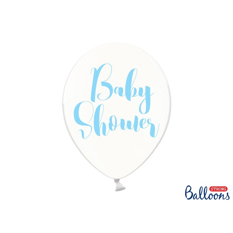 Lateks baloni Baby Shower, 30cm, prozorni