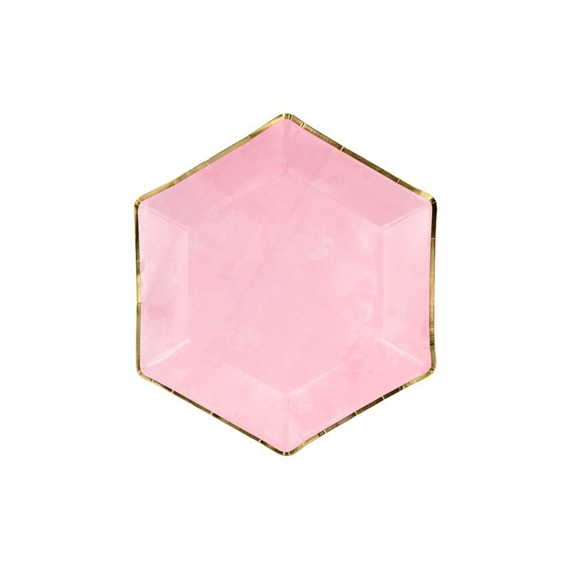 Krožniki nežna pink, 23cm