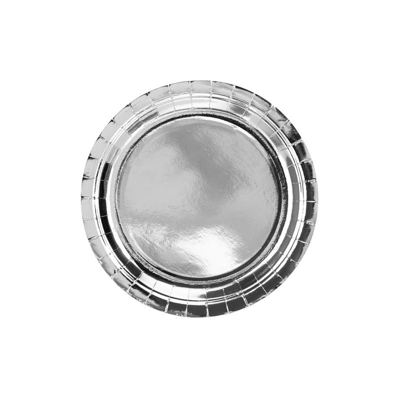 Krožniki, srebrni, 23cm