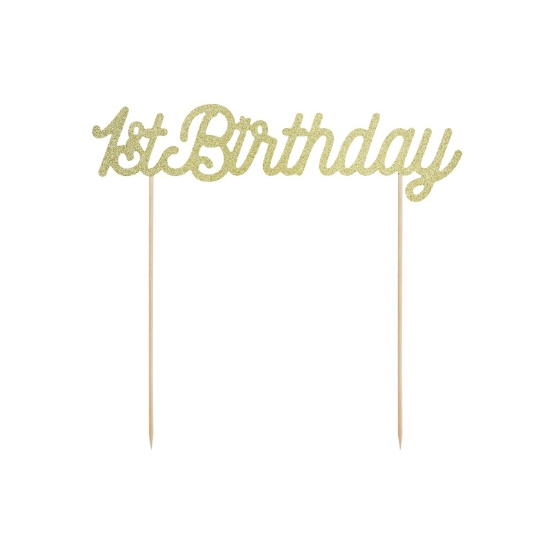 Tortna dekoracija 1st Birthday, gold