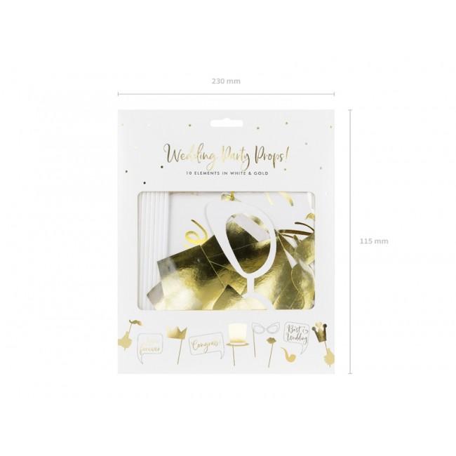 Poročni photo props v zlati barvi, mix