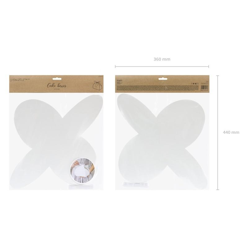 Škatla za pecivo, bela, 16,5x14x9,5cm