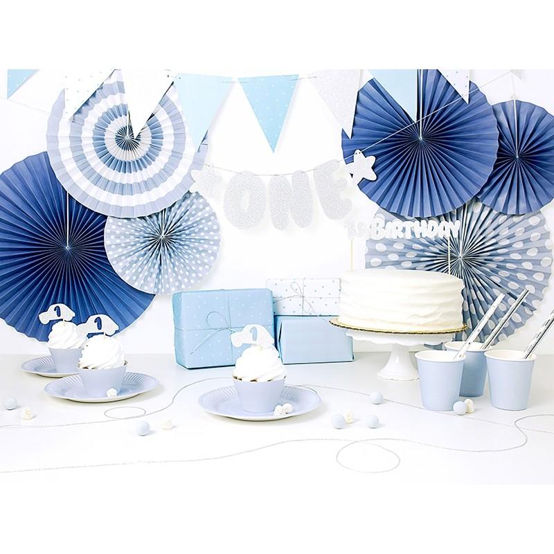 Tortna dekoracija 1st Birthday, silver