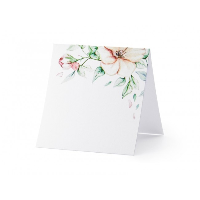 Kartice za sedežni red - Floral, 7x7.5cm