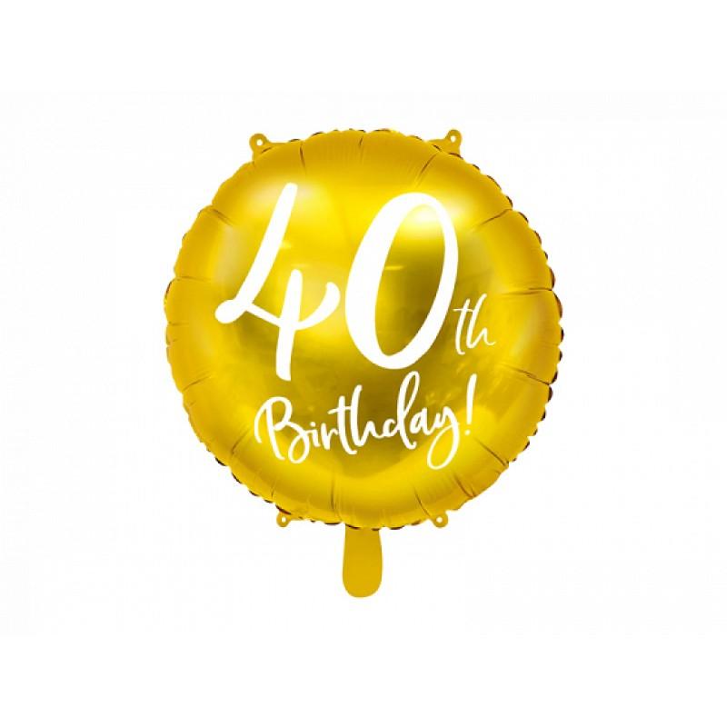 Folija balon 40th Birthday