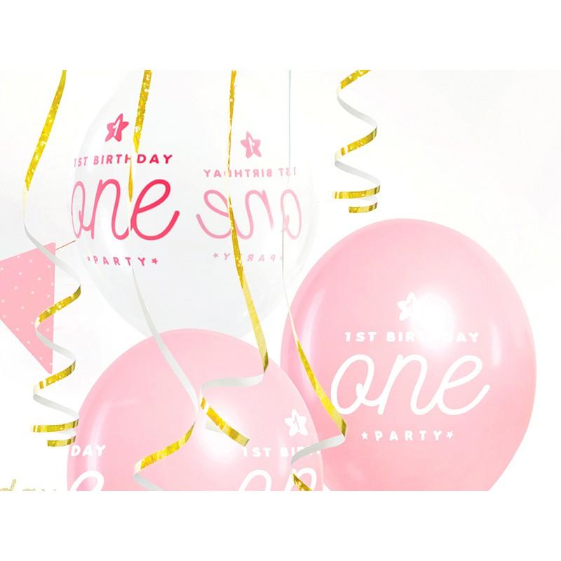 Baloni Pastel pink 1st birthday, one party